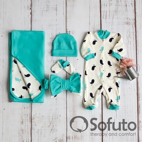 Комплект на выписку летний (5 предметов) Sofuto baby Vincent - фото 10083