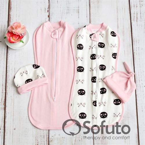 Комплект пеленок утепленный Sofuto Swaddler Kitty-kat - фото 10103
