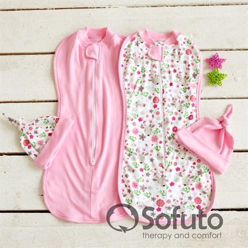 Комплект пеленок Sofuto Swaddler Flowers - фото 10118