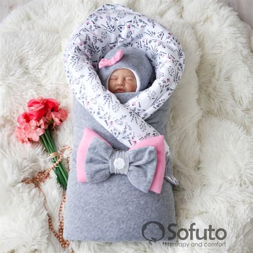 Комплект на выписку демисезонный (6 предметов) Sofuto baby Veresk - фото 10156