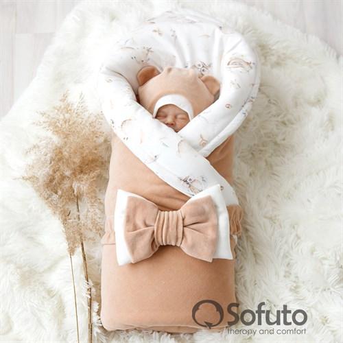 Комплект на выписку зимний (6 предметов) Sofuto baby cute animals - фото 10161