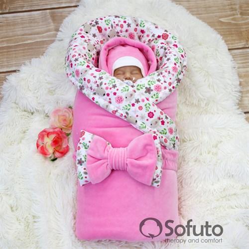 Комплект на выписку холодная зима (7 предметов) Sofuto baby Flowers - фото 10166