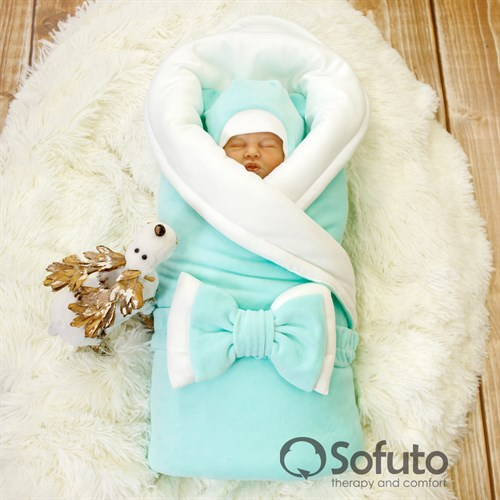 Комплект на выписку зимний (7 предметов) Sofuto baby Sweet mint