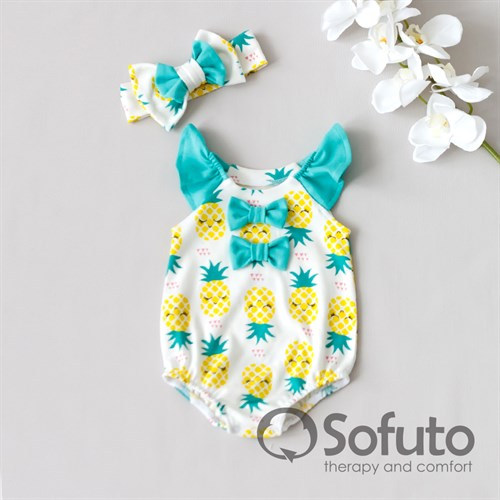 Песочник с повязкой Sofuto baby Pineapple - фото 10269