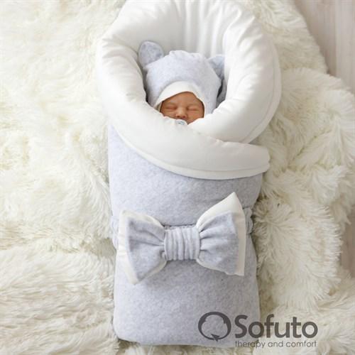 Комплект на выписку демисезонный (7 предметов) Sofuto baby Light grey - фото 10292