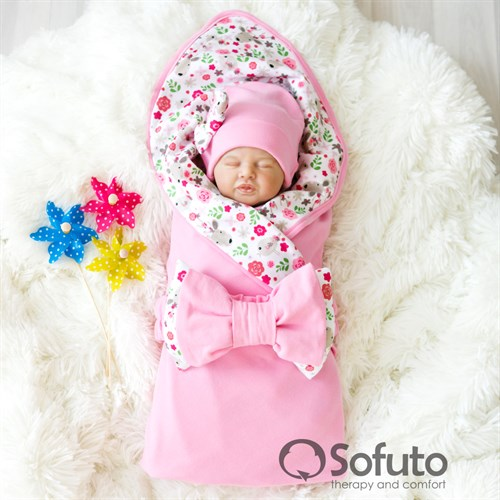Комплект на выписку жаркое лето (5 предметов) Sofuto baby Flowers - фото 10295