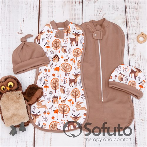Комплект пеленок утепленный Sofuto Swaddler Forest animals - фото 10312