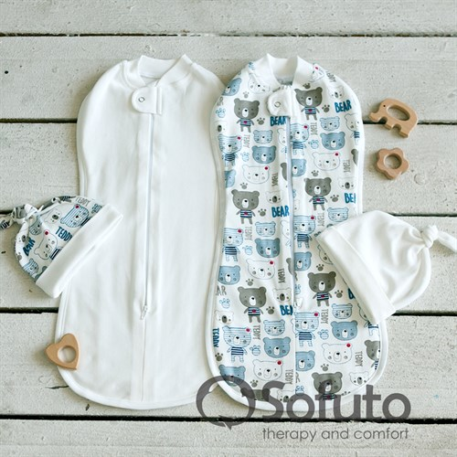 Комплект пеленок Sofuto Swaddler Teddy - фото 10314