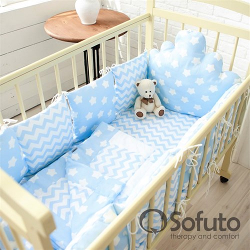 Комплект бортиков Sofuto Babyroom BCL-SCL-S8 Blue sky - фото 10343