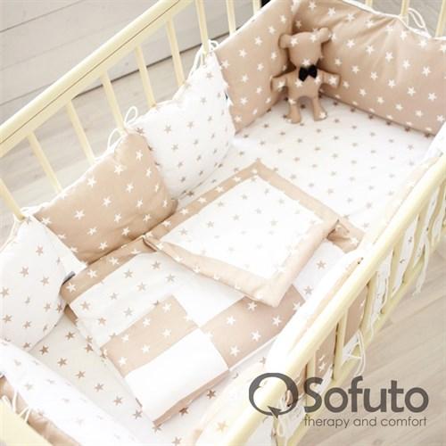 Комплект бортиков Sofuto Babyroom B2-S8-P Latte - фото 10345