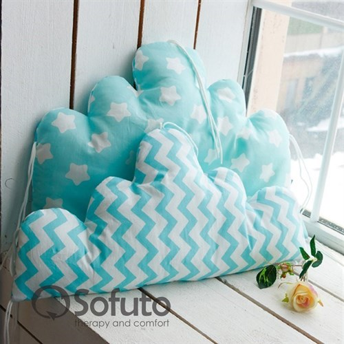 Бортик Sofuto Babyroom Cloud small Aqua - фото 10349