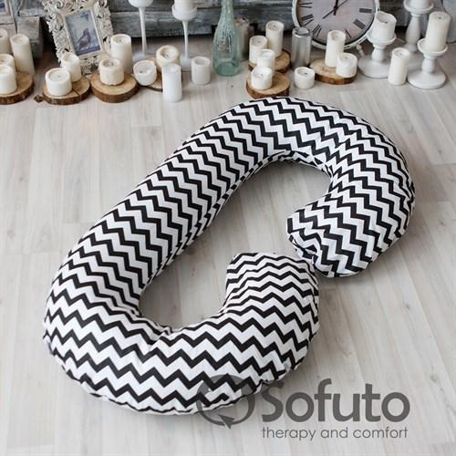 Подушка для беременных Sofuto CСompact Black waves - фото 10429
