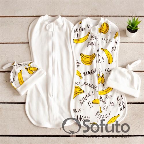 Комплект пеленок Sofuto Swaddler bananas - фото 10493