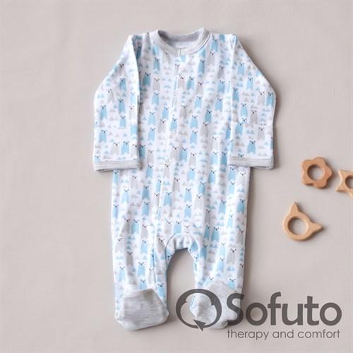 Слип на кнопках Sofuto baby Ice bear - фото 10527