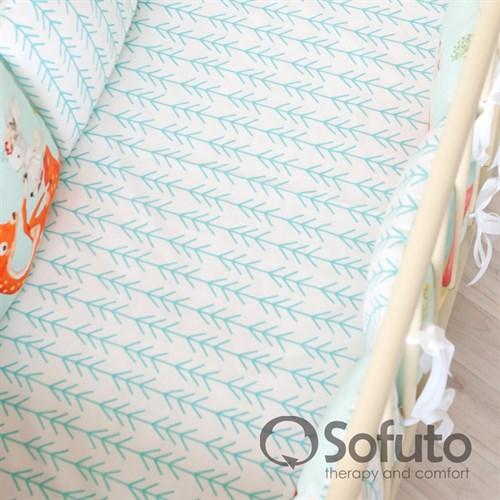 Простынь на резинке Sofuto Babyroom Trees - фото 10599
