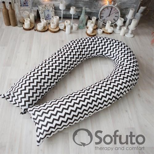 Подушка для беременных Sofuto UComfot Black waves - фото 10621