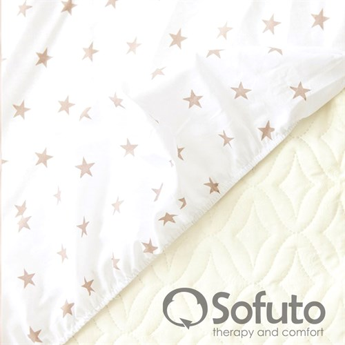 Простынь на резинке Sofuto Babyroom Latte - фото 10628