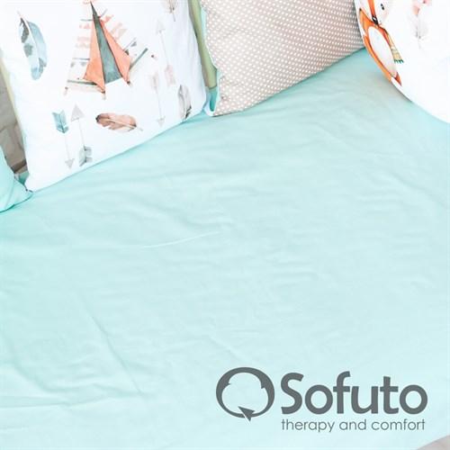 Простынь на резинке Sofuto Babyroom Mint - фото 10756