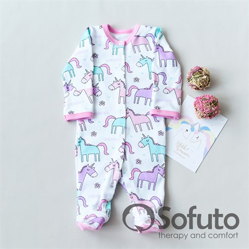 Слип на кнопках Sofuto baby Unicorn - фото 10770