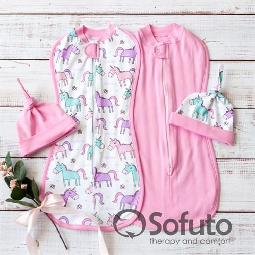 Комплект пеленок Sofuto Swaddler unicorn - фото 10938