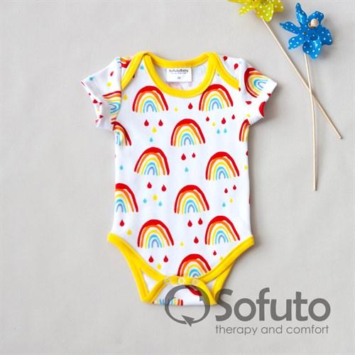 Боди короткий рукав Sofuto baby Rainbow party - фото 10969