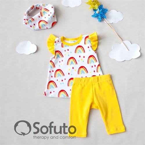 Комплект из туники с аксессуарами Sofuto baby Rainbow party - фото 11002