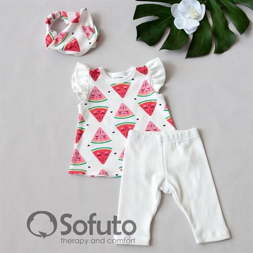 Комплект из туники с аксессуарами Sofuto baby Watermelon - фото 11015