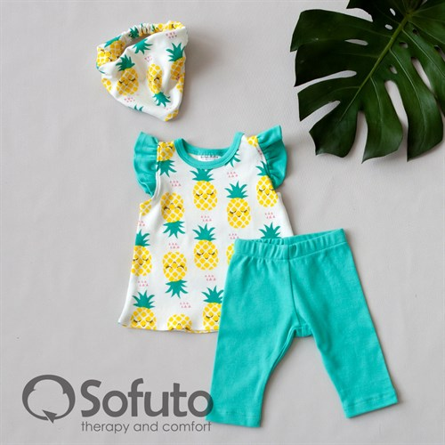 Комплект из туники с аксессуарами Sofuto baby Pineapple - фото 11044