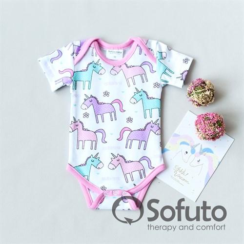 Боди короткий рукав Sofuto baby Unicorn - фото 11059