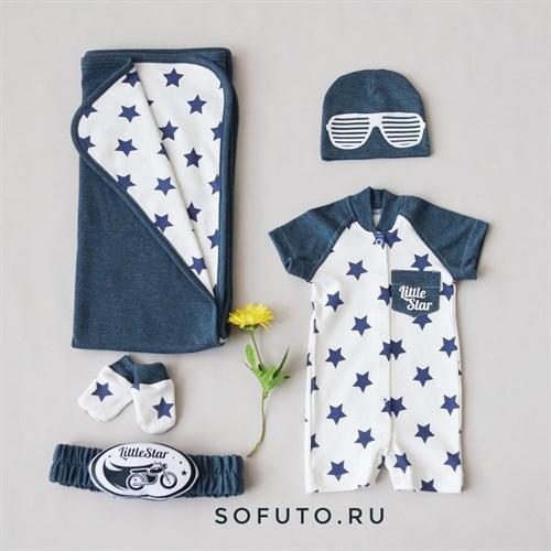Комплект на выписку жаркое лето (5 предметов) Sofuto baby Little Star - фото 11101