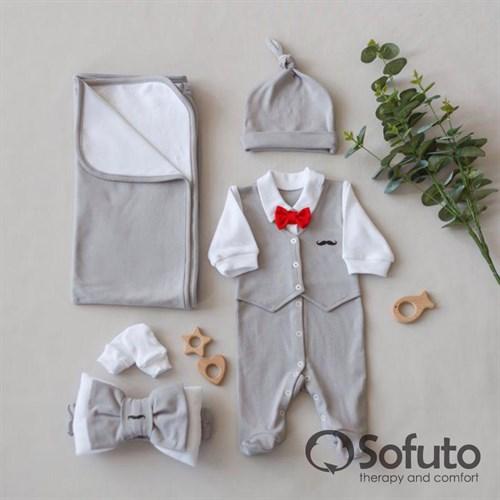 Комплект на выписку летний (5 предметов) Sofuto baby David - фото 11250