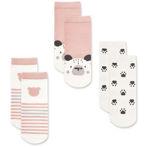 "Носочки 3 пары ""Медвежонок Макс"" трикотаж розовый - фото 11341"