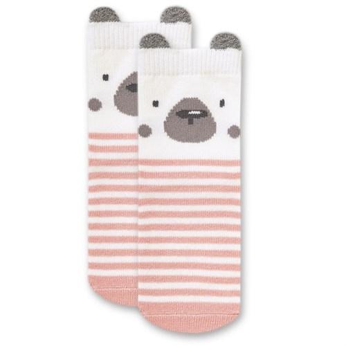 """Носочки 1 пара """"Медвежонок Макс"""" трикотаж розовый - фото 11414"""