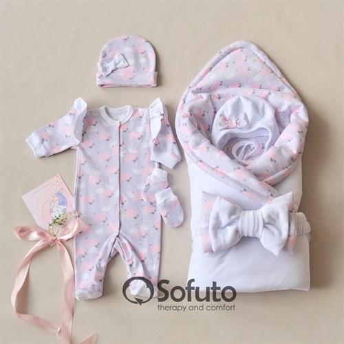 Комплект на выписку холодное лето (6 предметов) Sofuto baby Adele - фото 11611