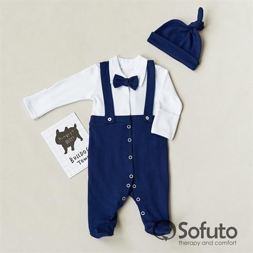 Комплект одежды первого слоя Sofuto baby Mister dark blue - фото 11699