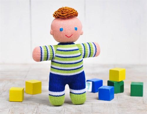 """Игрушка вязаная """"Кукла Мальчик"""" - фото 11978"""