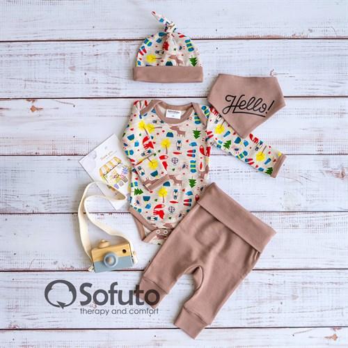 Комплект одежды 4 предмета Sofuto baby Animal Travel
