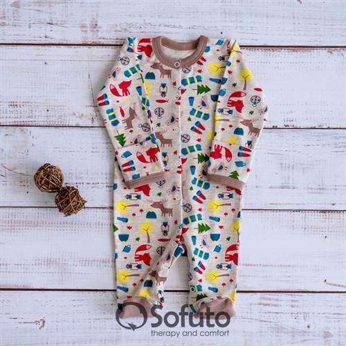 Слип на кнопках Sofuto baby Animal Travel