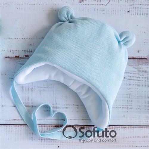 Шапочка зимняя вязаная Sofuto baby blue - фото 12261