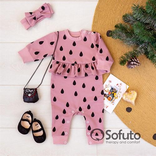 Комплект одежды ромпер с повязкой Sofuto baby Renny