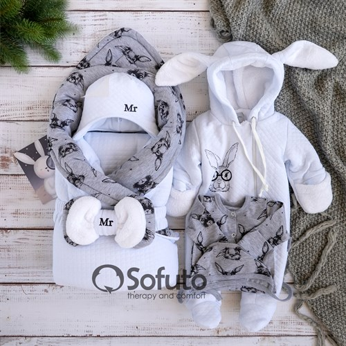Комплект на выписку холодная зима (6 предметов) Sofuto baby Mr Rabbit - фото 12293