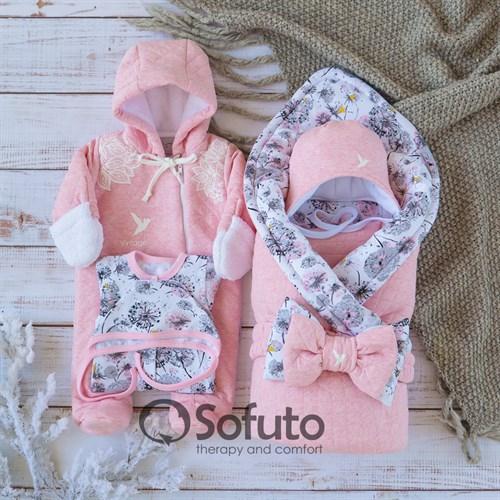 Комплект на выписку холодная зима (6 предметов) Sofuto baby Fleur