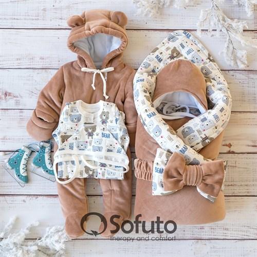 Комплект на выписку холодная зима (6 предметов) Sofuto baby Teddy