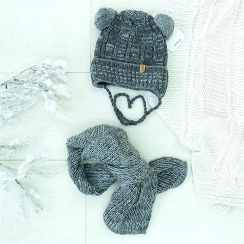 Комплект 38-443 шапка подклад флис+шарф - фото 12505