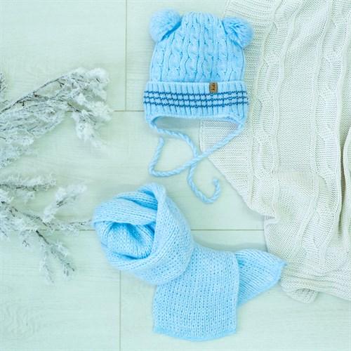 Комплект 38-443 шапка подклад флис+шарф - фото 12507