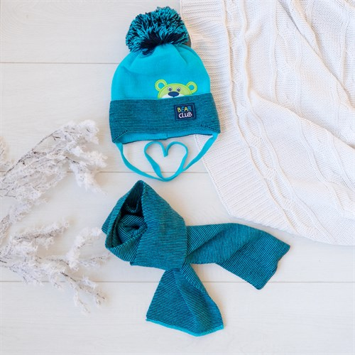 Комплект 36-342 шапка подклад хлопок+шарф - фото 12517