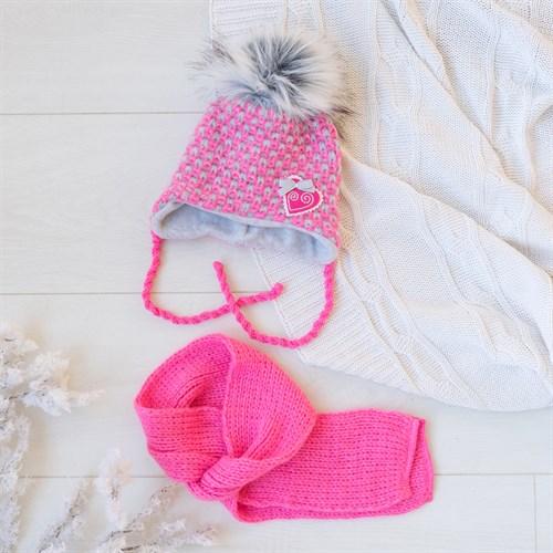 Комплект 38-403 шапка подклад флис + шарф - фото 12537