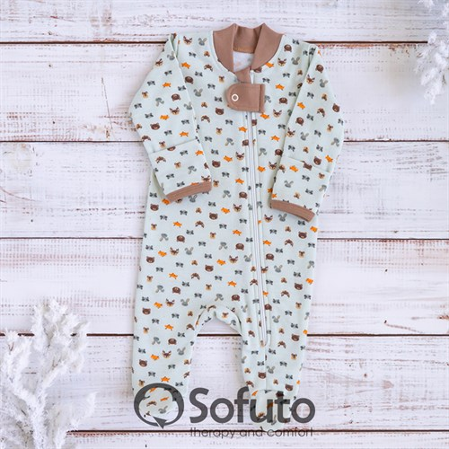 Слип на молнии Sofuto Baby Animals