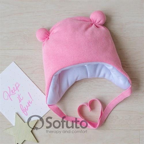 Шапочка зимняя вязаная Sofuto baby pink
