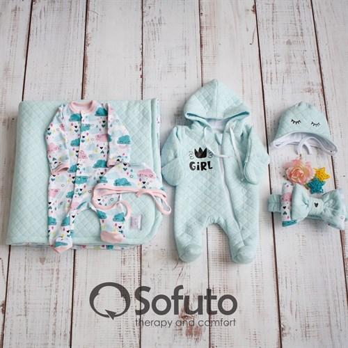Комплект на выписку холодное лето (6 предметов) Sofuto Little girl - фото 12941
